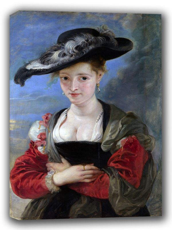 Rubens, Peter Paul: The Felt Hat (Portrait of Susanna Lunden). Fine Art Canvas. Sizes: A4/A3/A2/A1 (002121)